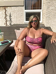 French mature milf is playing with her holes