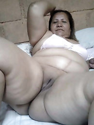 Old Mexican granny wearing  G string