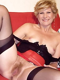 Tempting mature MILFs are getting undressed on pics