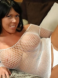 Classy-looking aged gilf with ideal breasts